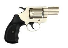 Gun revolver on a white background Stock Images