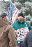 Gun rights rally Montpelier Vermont. Stock Photos