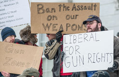 Gun rights rally Montpelier Vermont. Stock Image