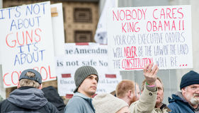 Gun Rights Rally Montpelier Vermont. Royalty Free Stock Photos