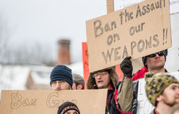 Gun rights rally Montpelier Vermont. Royalty Free Stock Photography