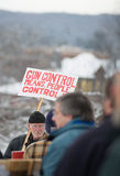 Gun rights rally Montpelier Vermont. Royalty Free Stock Image