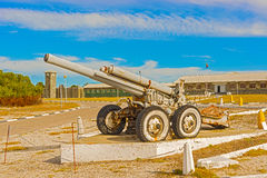 Gun on Robben Island Prison, South Africa Royalty Free Stock Image