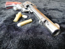 Gun 5. Ruger 45 long Colt revolver with bullets Royalty Free Stock Photography