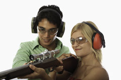 Gun safety instruction Stock Image