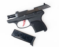Gun Safety, .380 Pistol Stock Image