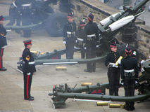 Gun Salute Edinburgh Castle Stock Photos