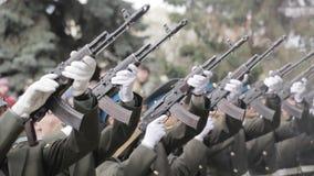 Gun salute.