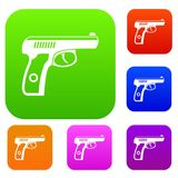 Gun set collection Stock Photography