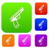 Gun set collection Royalty Free Stock Photo