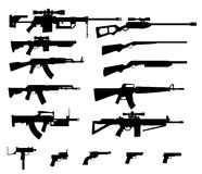 Gun set Royalty Free Stock Photos