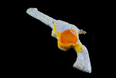 Gun shaped egg. Royalty Free Stock Photography