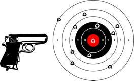 Gun shooting Royalty Free Stock Photography