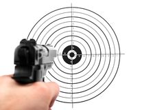 Gun shooting target Royalty Free Stock Images