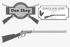 Gun Shop Logo Stock Photography