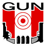 Gun shop or shooting range emblem Royalty Free Stock Images