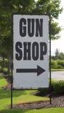Gun Shop Sign Royalty Free Stock Photo
