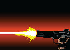 Gun shot. Vector illustration for your design and more Stock Photography