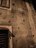 Gun Shot Holes Sarajevo Stock Images