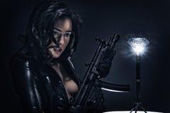 Gun Shots - Diamond Heist Stock Photo