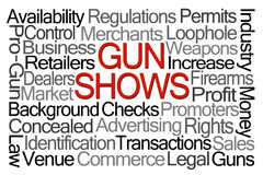Gun Shows Word Cloud Royalty Free Stock Images