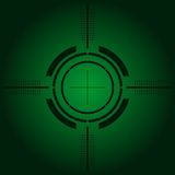 Gun sight over green gradient. Gun sight over green simulating night vision Royalty Free Stock Image