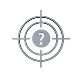 Gun sight with question mark Royalty Free Stock Photography