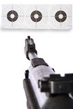 Gun sight on targets Stock Photo