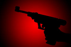 Gun silhouette Royalty Free Stock Photos