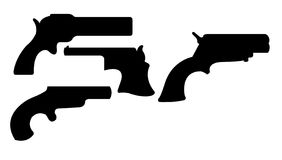 Gun Silhouettes. This is a vector illustration of some gun silhouettes Royalty Free Stock Image