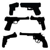 Gun Silhouettes Stock Photo