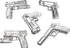 Gun sketches Royalty Free Stock Photo