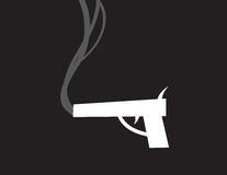 Gun Smoke Silhouette Stock Photo
