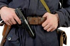 gun of a Soviet tank driver Stock Photos