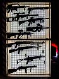 Gun stand and the shooting range. Stock photo of the gun stand and the shooting range Stock Photography