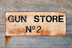 Gun store N2 label Royalty Free Stock Image