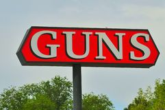 Gun store sign. In flagstaff, arizona Stock Images
