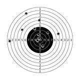 Gun target with bullet holes vector illustration Stock Images