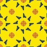 Gun Targets Seamless Pattern Royalty Free Stock Images