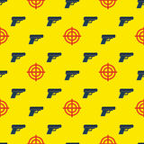 Gun targets seamless pattern Stock Photo