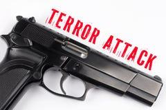 Gun and Terror Attack Royalty Free Stock Photo