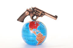 Gun threatening the world Stock Image