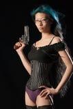 Gun toting gal Royalty Free Stock Images