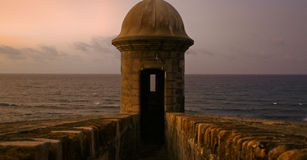 Gun Tower at dusk Royalty Free Stock Image