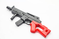 Gun toy. On white background Stock Images