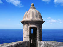 Gun turret. In morro casttle stock photos