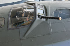 Gun turret. From B17 Flying Fortress. WW2 US Bomber Royalty Free Stock Images