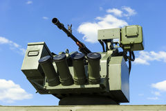 Gun turret with grenade launcher Royalty Free Stock Image