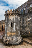 Gun turret inside Castillo San Felipe del Morro. Stone gun turret inside Castillo San Felipe del Morro shaped like a castle Royalty Free Stock Photography