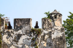 Gun turrets in Guia Fortress Guia Hill Stock Images